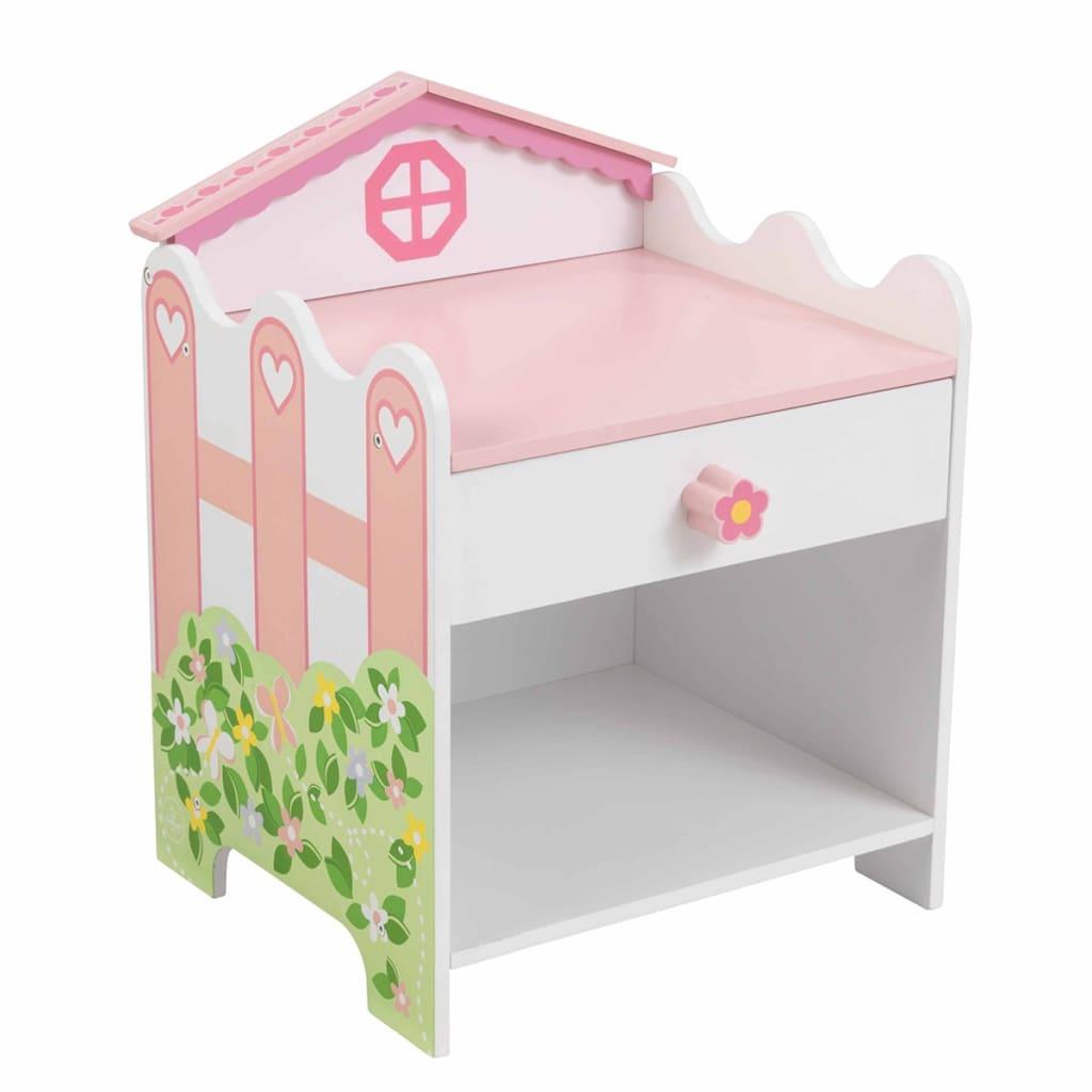 Afbeelding van KidKraft Nachtkastje met lade 33x30,5x42 cm poppenhuis 76257