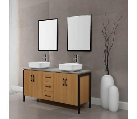 Le Trinity bois et métal : Ensemble de salle de bain industriel : 1