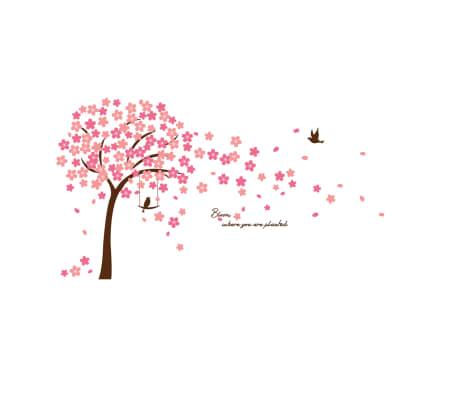 WALPLUS Autocollant de décoration de maison Fleur cerisier 320x180cm
