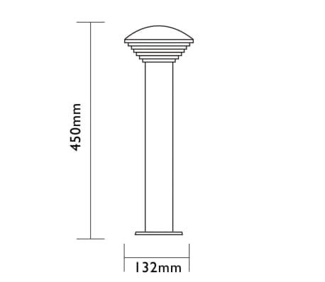 Luxform LED-Garten-Wegeleuchte Trier Silbern LUX1702S[5/7]