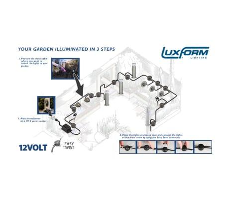 Luxform Sodo šviestuvas Zaragoza, kompl., 3 vnt., 12 V, LED[4/6]