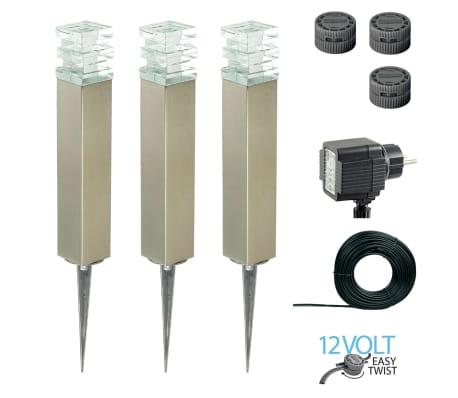 Luxform Sodo šviestuvas Adelaide, kompl., 3 vnt., 12 V, LED[1/7]