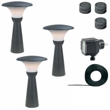 """Luxform Garten-Pollerleuchten """"Perth"""" 3 Stk. 12 V 43 cm Anthrazit 89336[2/8]"""