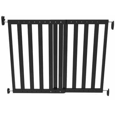 Noma Išskleidžiami varteliai, 63,5-106 cm, mediena, juodi, 93743[1/2]