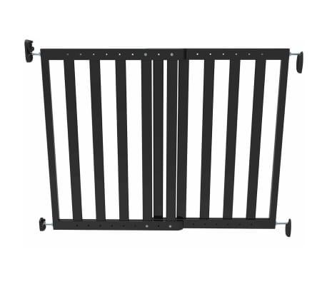 Noma Išskleidžiami varteliai, 63,5-106 cm, mediena, juodi, 93743[2/2]
