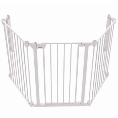 Noma 3-Panel sikkerhetsgrind Modular metall hvit 94054[1/6]
