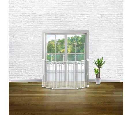 Noma 3-Panel sikkerhetsgrind Modular metall hvit 94054[6/6]