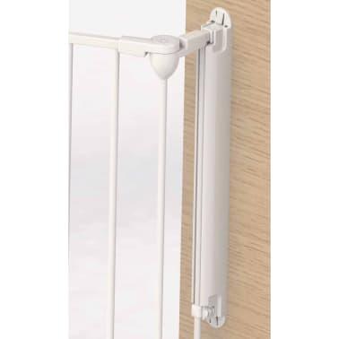 Noma 3-Panel sikkerhetsgrind Modular metall hvit 94054[5/6]