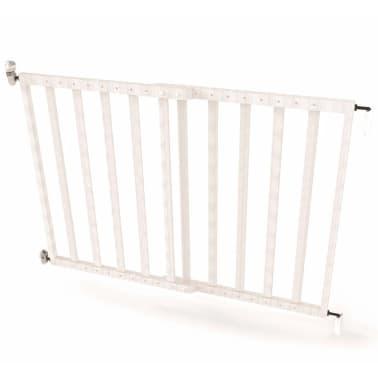 Noma Išskleidžiami mediniai apsauginiai vartai, balti, 63,5-106 cm[1/6]