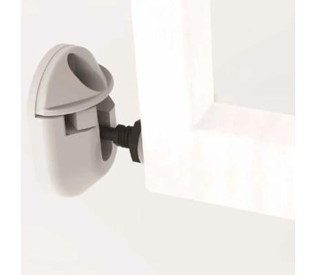 Noma Išskleidžiami mediniai apsauginiai vartai, balti, 63,5-106 cm[2/6]