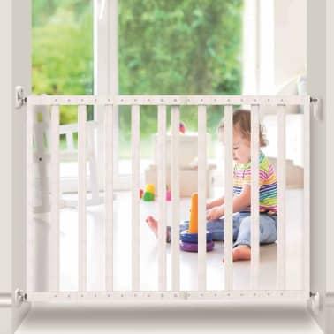 Noma Išskleidžiami mediniai apsauginiai vartai, balti, 63,5-106 cm[6/6]