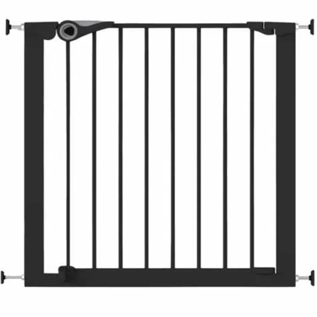 Noma Poartă de siguranță Easy Pressure Fit 75-82 cm negru metal 94313 imagine vidaxl.ro