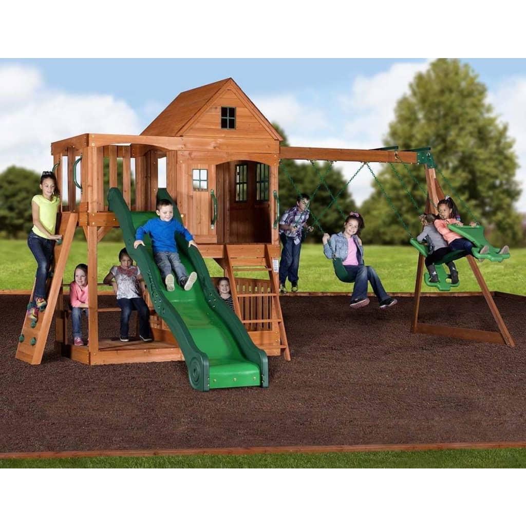 Afbeelding van Backyard Discovery speelhuis Hill Crest 537x409x290 cm blank