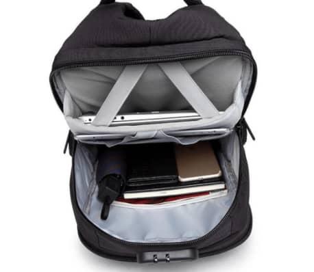 Stor Laptop Ryggsekk med 3-sifret Kodelås, USB-port - Grå[5/7]