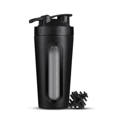 Shaker i rustfrit stål, 700 ml - Sort[1/3]