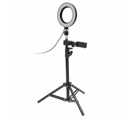 Selfie Lampe / Ringlicht (17 cm) und Ständer[1/3]