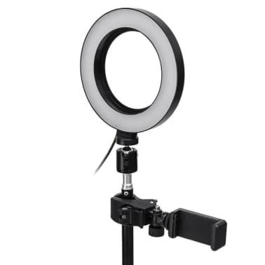 Selfie Lampe / Ringlicht (17 cm) und Ständer[2/3]