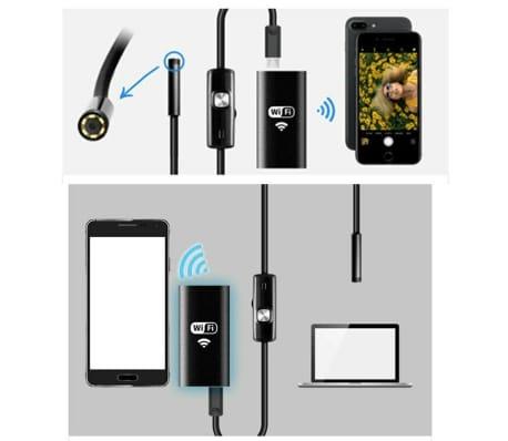 2 m - Endoscope WiFi avec Accessoires et Lumière Ajustable[4/6]