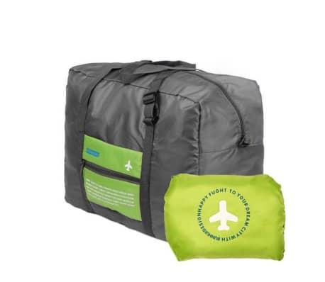 Vikbar Duffelväska med Förvaringspåse - Grön