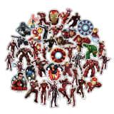 50x Autocollants, Iron Man