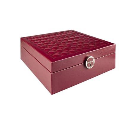 Quiltat Smyckeskrin med Reseskrin - Röd