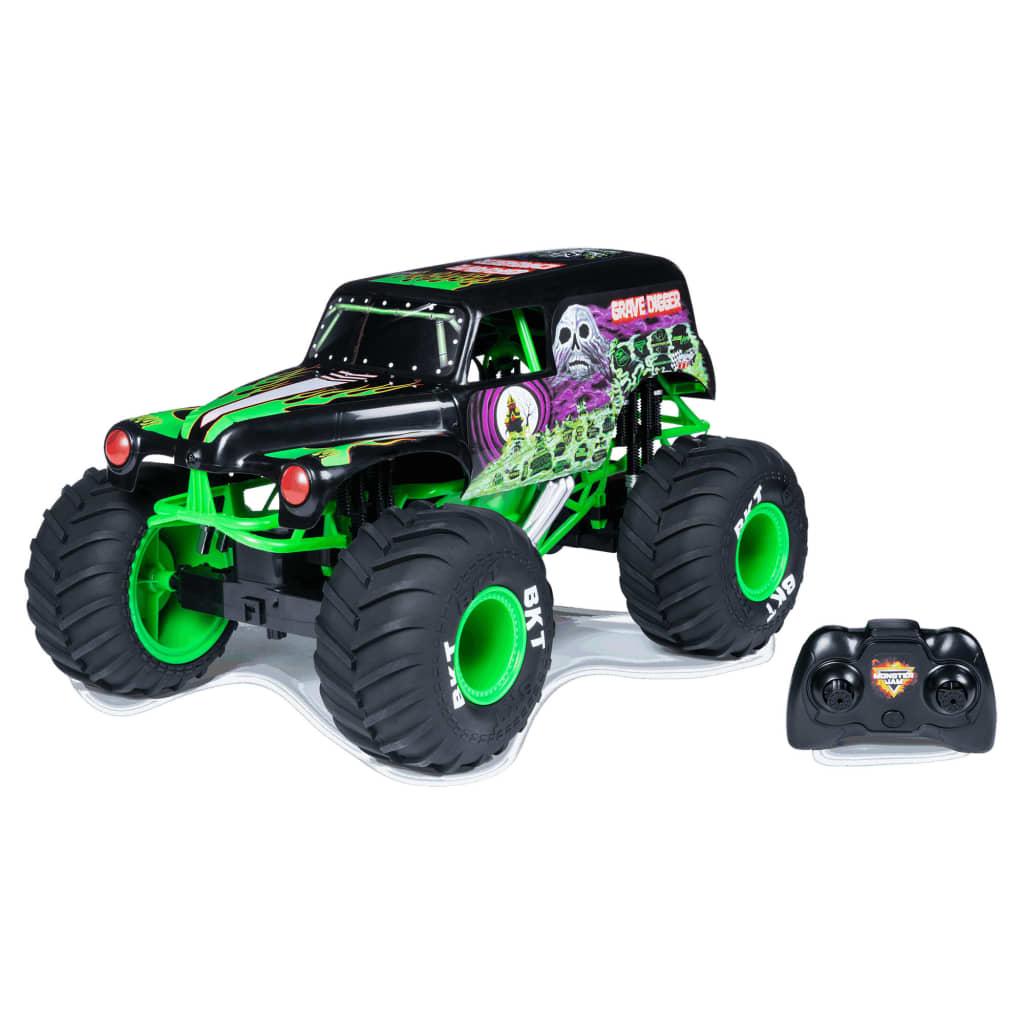 Monster Jam Camion Grave Digger cu comandă radio 1:10 imagine vidaxl.ro
