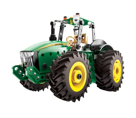 Meccano Juego de tractor modelo John Deere 8RT verde y negro