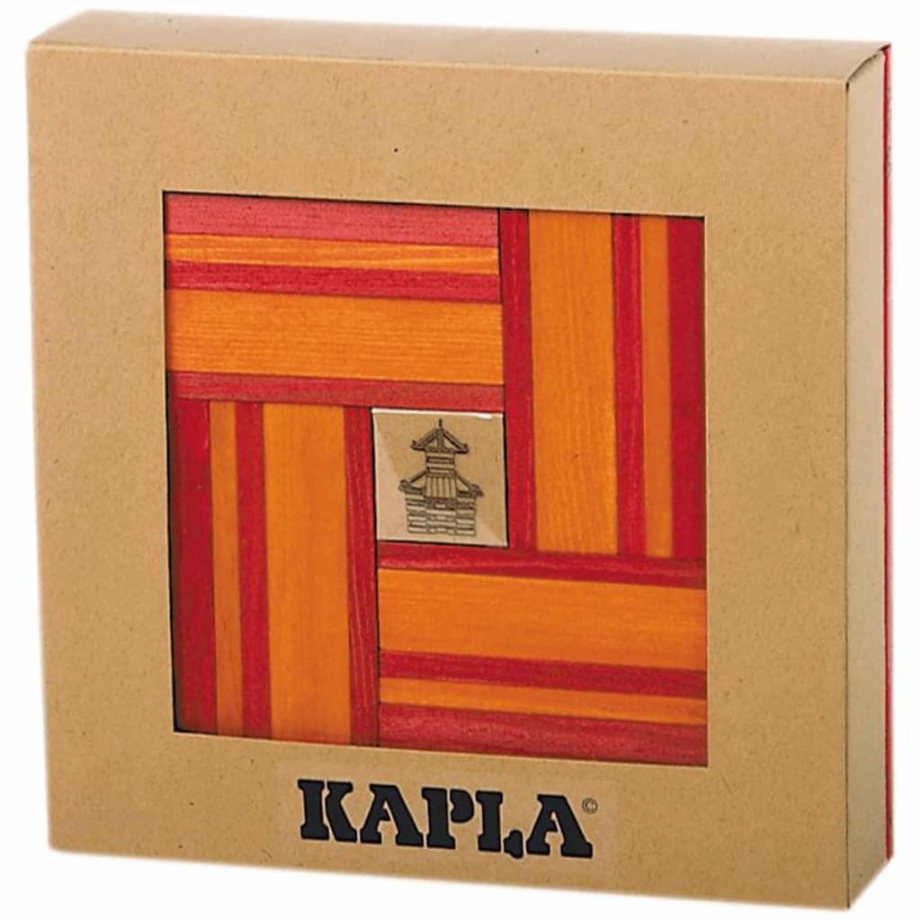 Kapla Houten plankjes set rood en oranje 40 st KAPL172106