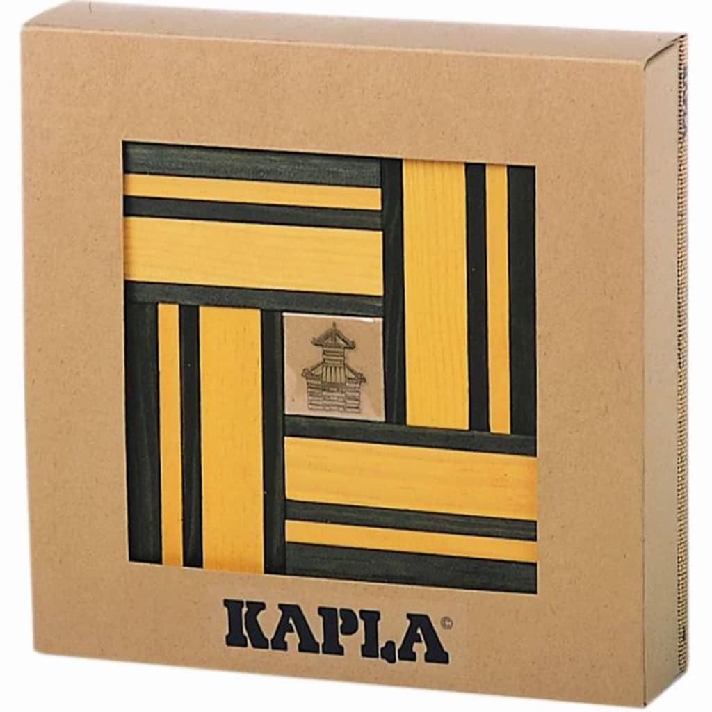 Kapla Houten plankjes set groen en geel 40 st KAPL172105