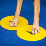 FitPAWS skiver til target-træning 4 stk. gul og blå