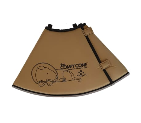 All Four Paws Collier animaux de compagnie Comfy Cone S Long 20cm Brun