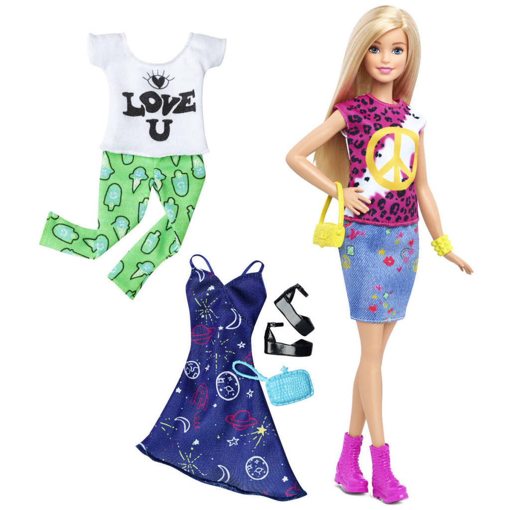 Afbeelding van Barbie Fashionista's pop Peace & Love DTD 98