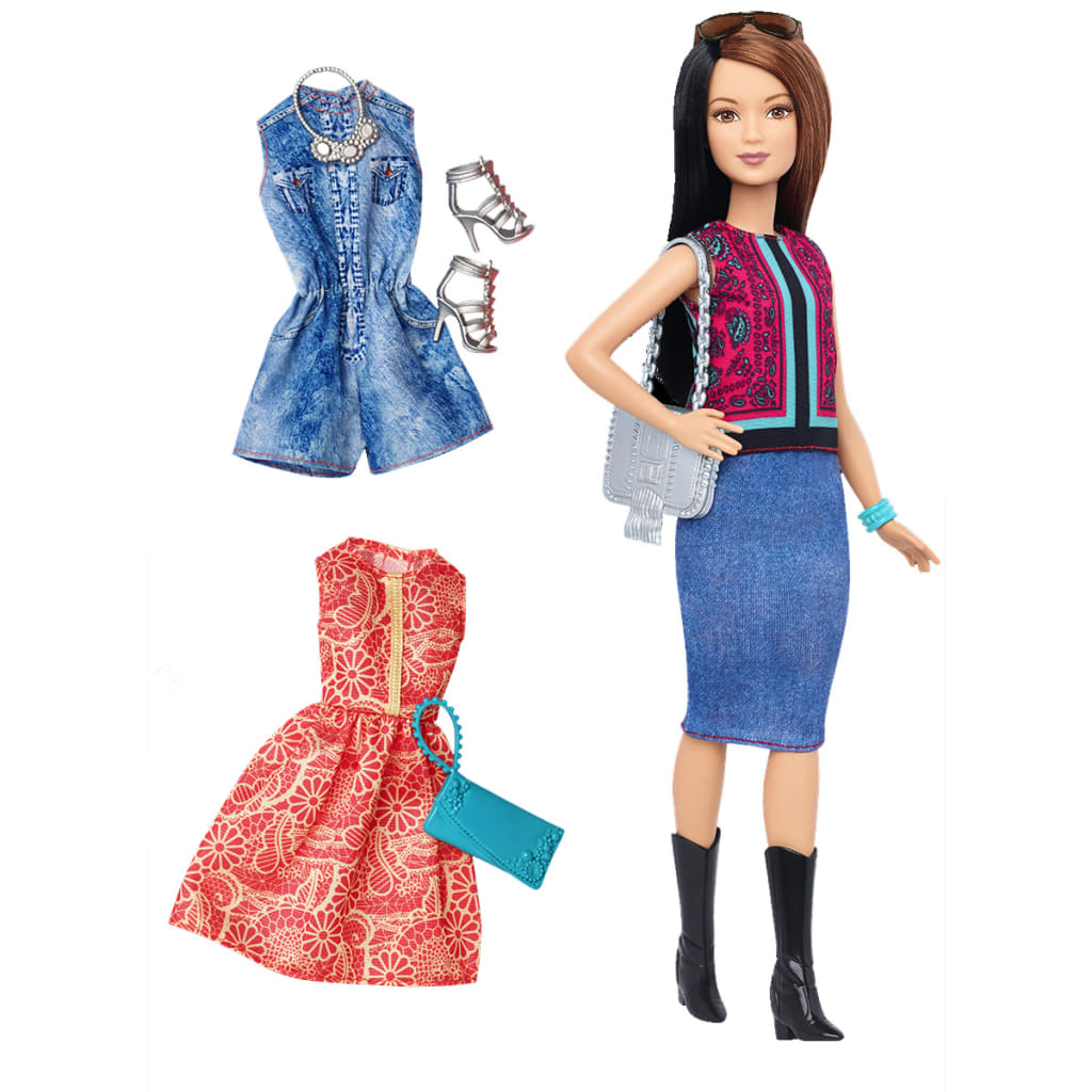 Afbeelding van Barbie Fashionistas pop Pretty in Paisley DTF04