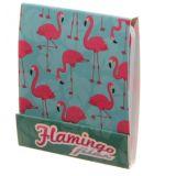 1 Boîte de limes à ongles Design Funky flamant rose