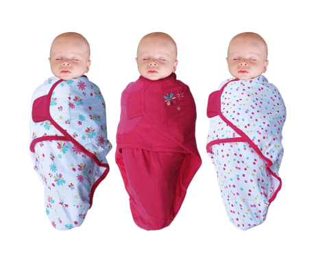 Bo Jungle Otulacz dla niemowląt B-Wrap, kwiatuszek, 3 szt., różowy[1/4]