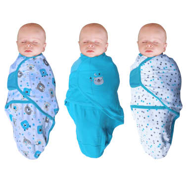Bo Jungle Couverture pour bébé 3 pcs Ourson Bleu[1/4]