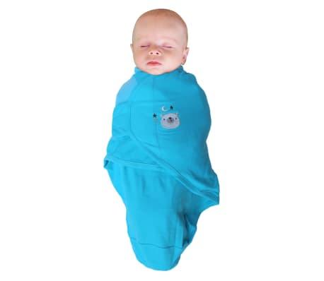 Bo Jungle Couverture pour bébé 3 pcs Ourson Bleu[3/4]