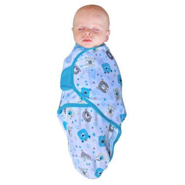 Bo Jungle Couverture pour bébé 3 pcs Ourson Bleu[4/4]
