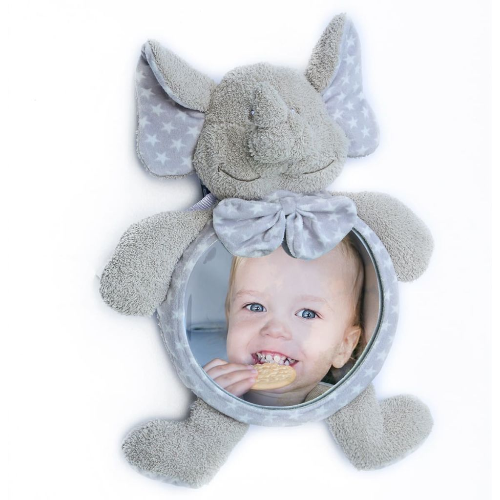 99420047 Bo Jungle B-Car & Home Rücksitz-Baby-Spiegel Zimbe der Elefant B390110