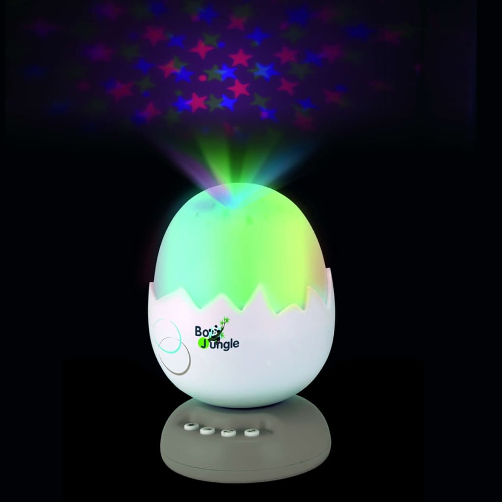 Bo Jungle B-Egg muziekprojector nachtlamp taupe B800500