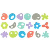 Bo Jungle 36 Piece B-Bath Time Foam Toys B900400