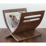 Porte revue en bois rangement magazines marron 30x29x36 cm