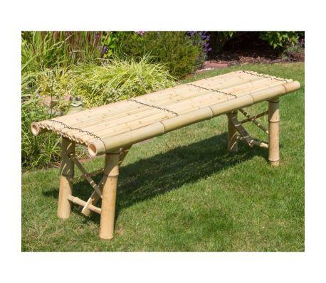 Acheter Banc de jardin pliable en bambou naturel 120x44x36 cm pas ...