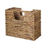 Porte-revues en jacinthe d'eau tressée 2 compartiments 40x34x20 cm