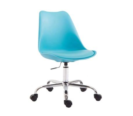 Chaise de bureau tabouret à roulette hauteur réglable bleu[1/1]