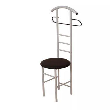 Acheter Chaise de chambre / valet de nuit portant en acier blanc et ...