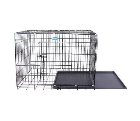 cf546352c9ab29 Cage pour chien pliable et transportable noir taille XL 106 x 70 x 77.5 cm