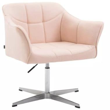 Fauteuil de bureau ergonomique sans roulettes en tissu crème hauteur r[1/1]