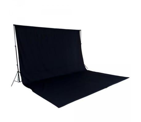 Toile de fond tissu de fond pour photo vidéo studio noir 3 x 6m