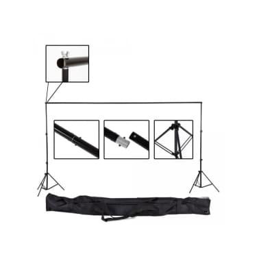 Toile de fond tissu de fond pour photo vidéo studio noir 3 x 6m[5/5]